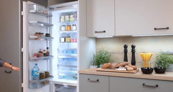 Холодильник и шкафы