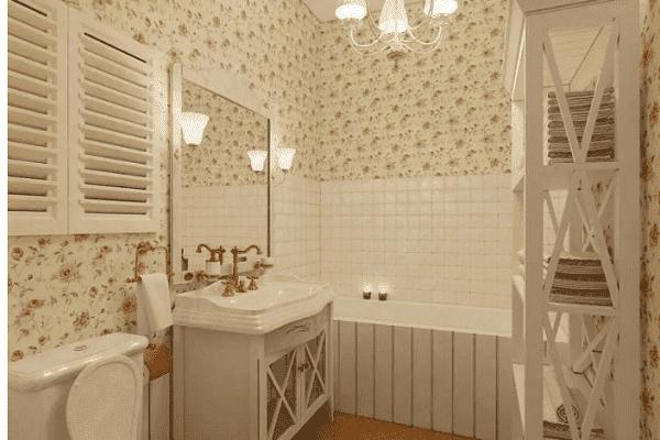 Светлые оттенки в ванной