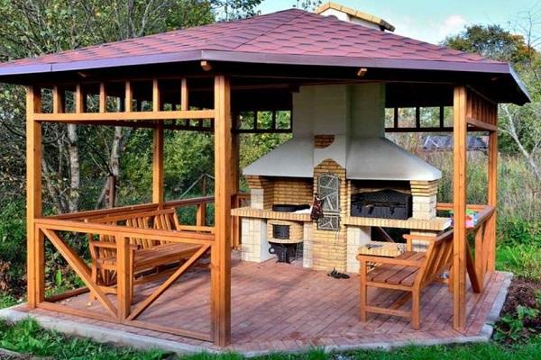 Открытые летние кухни