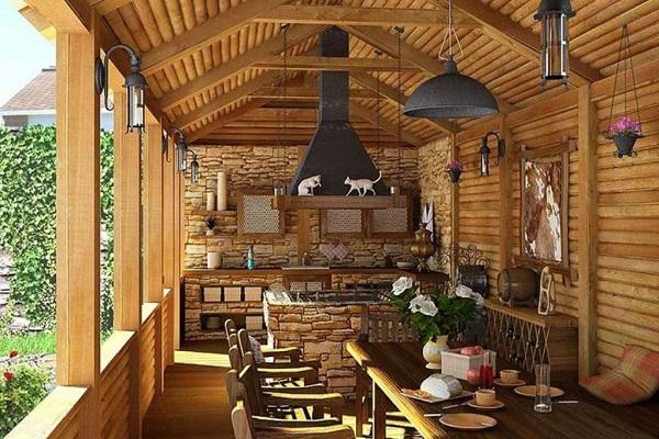Кухня из бруса